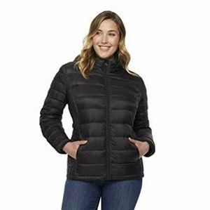 Black puffer spring jacket